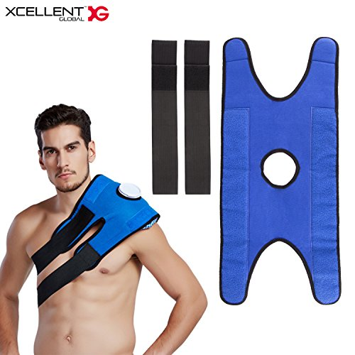 Xcellent Global Ice Bag Elastic Strap for Pain Relief Therapy Adjustable for Shoulder Waist Knee (Ice Bag NOT - Therapy Ice Total