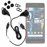DURAGADGET Wireless Bluetooth 4.0 Headphones with Microphone & Adjustable Ear-Bud Sizes for Google Pixel | Pixel 2 | Pixel XL | Pixel 2 XL