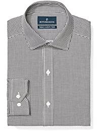 Men's Tailored Fit Pattern Non-Iron Dress Shirt (3...