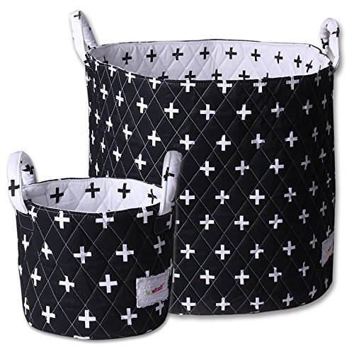 Minene Storage Set (Large/Small, Black with White Cross) 21174