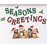 Collections Etc Santa Cats Seasons Greetings Garage Magnets