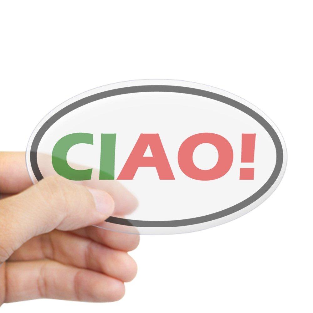 Amazon.com: CafePress – Ciao. Oval – Oval Pegatina para ...