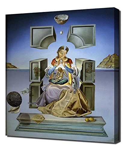 Salvador Dali The First Study For The Madonna Of Port Lligat Framed Canvas Art Print Reproduction