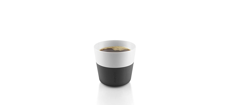 Eva Solo 5706631162876Lungo Cup, Silicone Grip, 230ml, Porcelain, Navy Blue, 8.5x 8.5x 8cm Set of 2