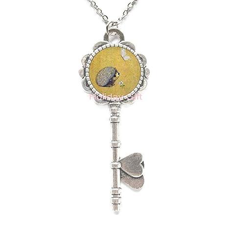 Amazon.com: Hedgehog - Collar con colgante de llavero ...