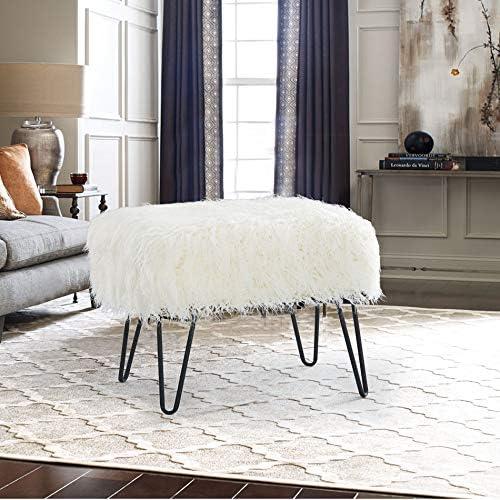 Home Soft Things Serenta Mongolian Faux Fur Ottoman Review