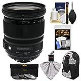 Sigma 24-105mm f/4.0 ART DG OS HSM Lens with 3 Filters + Backpack Kit for Nikon D3200, D3300, D5300, D5500, D7100, D7200, D610, D750, D810 Cameras