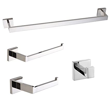 Ordinaire Turs Contemporary 4 Piece Bathroom Hardware Set Towel Hook Towel Bar Toilet  Paper Holder Tower