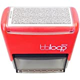 "BBloop Stamp Identity Theft Guard. Self-Inking. 3"" x 1 3/8"" Print Surface. Rectangular. BLACK Ink."