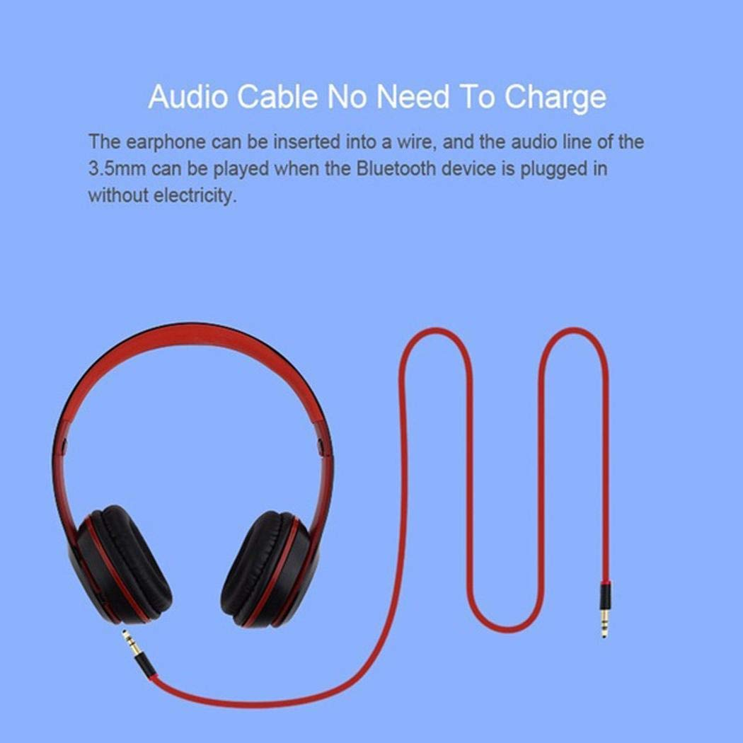 Xabern Wireless Bluetooth Stereo Headphone Comfortable Bluetooth Headset for Cell Phones & Accessories Bluetooth Headsets
