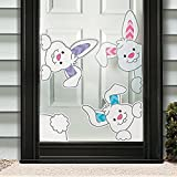 Easter Bunny Vinyl Window Cling Holiday Decorations