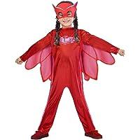 Amscan PJMASQUES BIBOU-Owlette Deguisement, 9902949, Rouge FR: 5/6 Ans