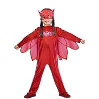 Amscan PJMASQUES BIBOU-Owlette Deguisement, 9902949, Rouge