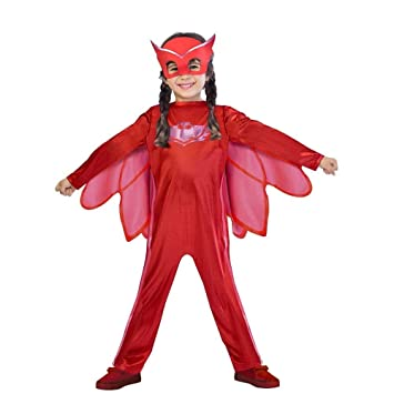 Childrens Size PJ Masks Disfraz de Owlette Small 3-4 years