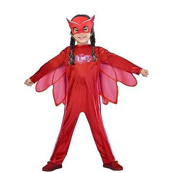 Amscan pjmasques bibou-Owlette Deguisement, 9902949, Rojo
