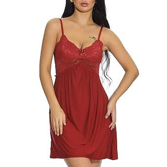 Amazon.com  Nightgowns for Women Plus Size Sleepwear for Women Fashion  Women Sexy Lace Bowknot Lingerie Nightwear Underwear Babydoll Nightdress  Thong Pink ... 89d0d3435700