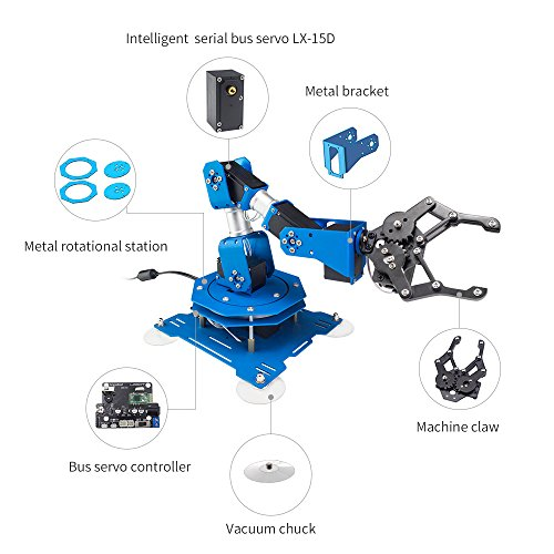LewanSoul xArm 6DOF Full Metal Programmable Robotic Arm with Feedback of Servo Parameter, Wireless/Wired Mouse Control, Mobile Phone Programming for Arduino Scratch by LewanSoul (Image #1)
