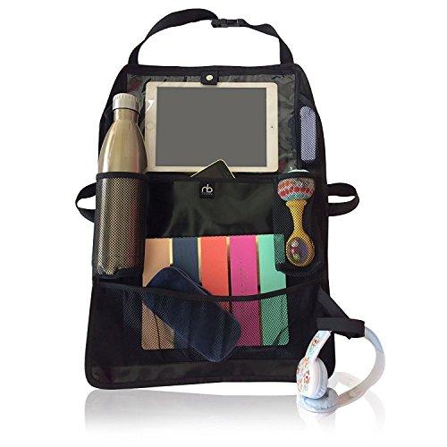 Front Multi Purpose Feeder (Car Back Seat Organizer | Universal Adjustable Lightweight Kick Mat Seat Protector & Storage for Kids| 11