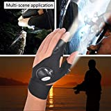 LED Flashlight Glove Outdoor Fishing Gloves With