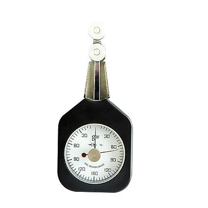 IDABAY Medidor de tensión dinamometro de doble aguja Tensiómetro de textil Marcador de puntero Material anticorrosivo
