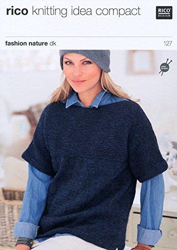 Ladies Garter Stitch Yoke Sweaters In Rico Design Fashion Nature Dk