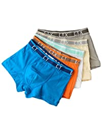 Boys Solid Color Cotton Stretch Short 5 Pack Underwear Boxers Briefs