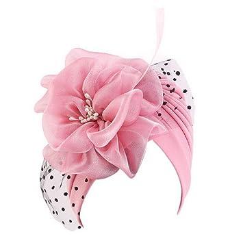 Vintage Artificial Flower Women/'s Wedding Party Veil Hat Church//Derby Formal Cap