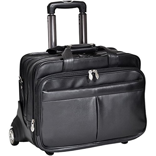 McKleinUSA ROOSEVELT 84555 Black 17 Detachable-Wheeled Laptop Case w/ Removable Sleeve