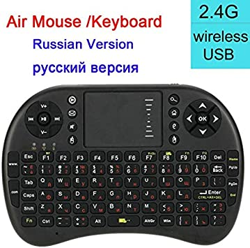 Color: English version Calvas air mouse with touchpad i8 Mini Wireless Keyboard as remote control with Russian spanish layout for android box htpc