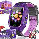 Smart Watch for Kids GPS Tracker for 3-12 Boys Girls with SIM CARD - Kids Smartwatch - SOS Call Safety School Mode Games Smart Phone Watch Christmas Birthday Gifts Holiday Toy
