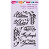 Stampendous Perfectly Clear Stamp Sets, Spanish Greetings Images