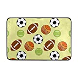 Chen Miranda Sport Balls Pattern Door Mat Carpets Indoor Outdoor Area Rugs Office Door Mat Non-slip for Bedroom Bathroom Living Room Kitchen Home Decorative 23.6x15.7 inch Lightweight