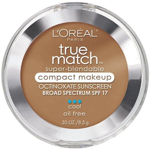 - L'Oreal Paris True Match Super-Blendable Compact Makeup, SPF 17, 0.3 Oz-Soft Sable C6