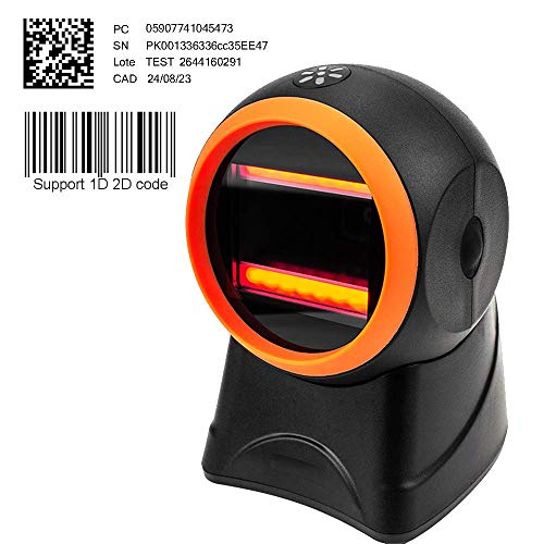 [Update 2.0] 2D CCD hands-free barcode scanner MUNBYN auto sensor for supermarket, retail store, clothing store and Home…
