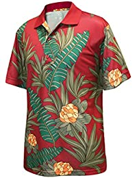 Mens Dry Swing Vintage Hawaiian Print Polo Shirt #1599