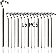 7075 Aluminum Tent Pegs,Heavy Duty Pegs Stakes Nail Lightweight Tent Stakes for Gardening Camping Hiking for H