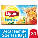 Lipton Family Black Iced Tea Bags, Unsweetened Decaffeinated, 24 ct