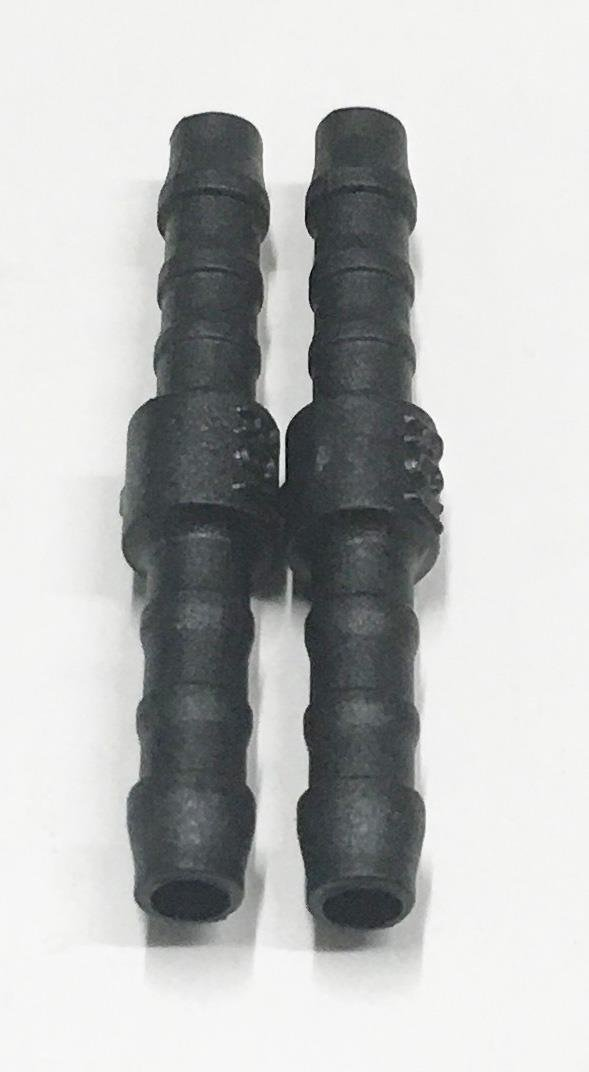 2x 18mm Straight Plastic Barbed Connector Pipe Hose Joiner Tubing Air Fuel Water
