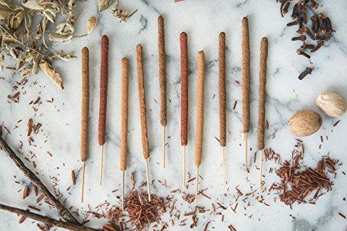 (All Natural Incense Sticks - Sample Pack, 15 Scents, 15 Sticks - Premium Hand-Rolled Herbal Incense Sticks)