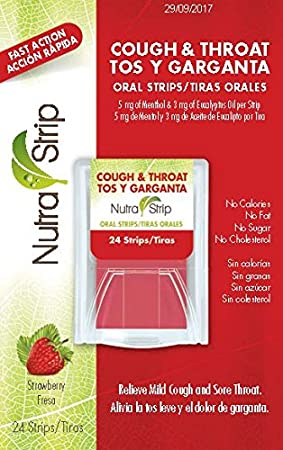 Amazon.com: Nutra-Strip Cough and Throat Strawberry Flavor X 10 Pack: Health & Personal Care