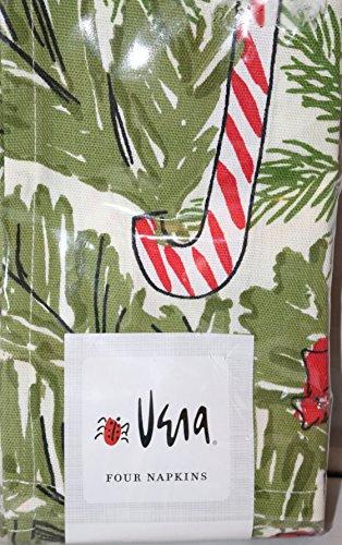 Vera Neumann Candy Canes Christmas Cloth Napkins 4 Pack (Napkins Vera)