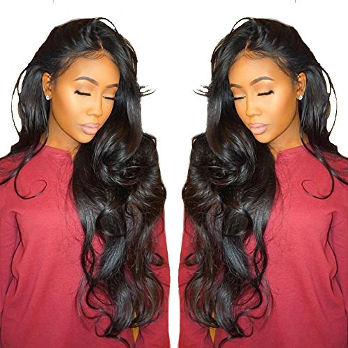 Beauty : Cici Collection 360 Lace Frontal Wig Pre Plucked Bleached Knots 180% Density Lace Front Human Hair Wigs For Women 360 Lace Wig Lace Front Wigs Human Hair with Baby Hair (22inch, Body Wave)