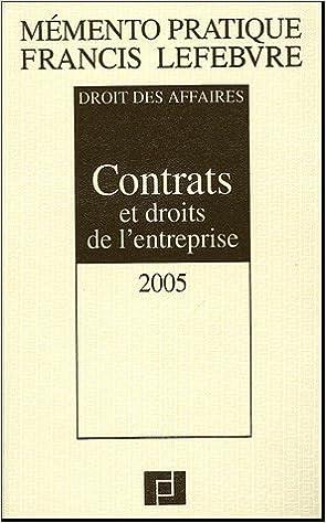 Télécharger en ligne Contrats et droits de l'entreprise pdf, epub