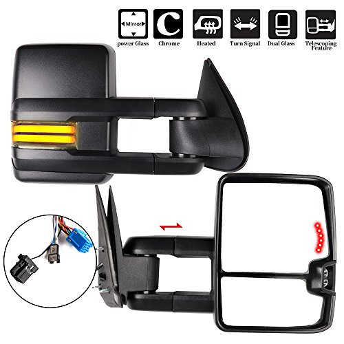 Running Light Set of 2 Clearance Lamp MOSTPLUS New Power Heated Towing Mirrors for Chevy Silverado Suburban Tahoe GMC Serria Yukon 2003-2006 w//Sequential Turn light