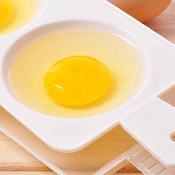 Morza Plástico Huevo Horno de microondas hervidor de Huevos 2 Huevos escalfados Huevo Cooking Herramientas Colores aleatorios