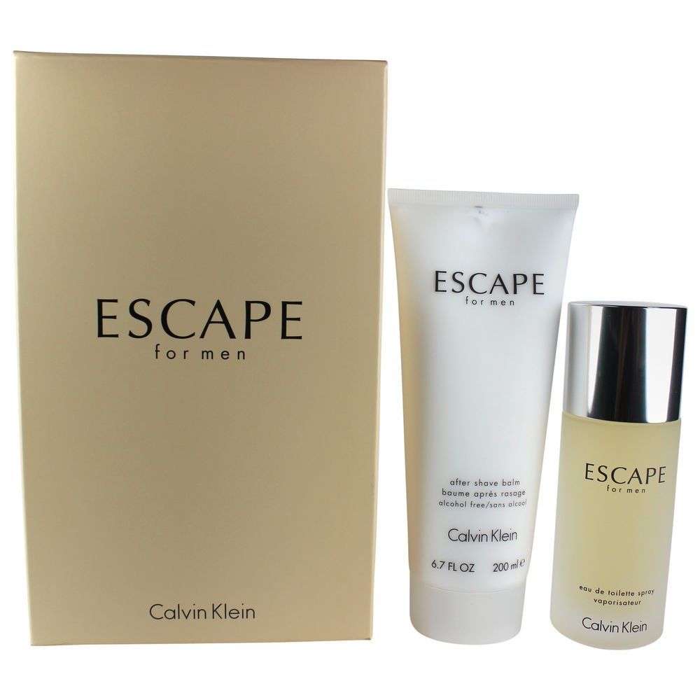 Escape for Men Gift Set 3.4-Ounce EDT Spray 6.7-Ounce After Shave Balm CK8T05211LO