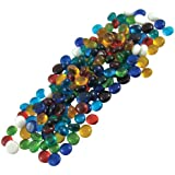 Jennifer's Mosaics Color Variety 1/2-Inch Medium Glass Gems, Assorted Colors, 1-Pound