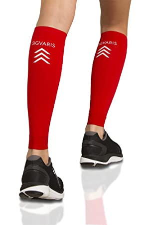 5760336228 Sigvaris Performance Sleeve 412VL59 20-30mmHg Performance Calf Sleeve  Compression Sock - Red, Large by Sigvaris: Amazon.co.uk: Sports & Outdoors