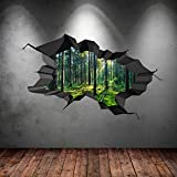 FULL COLOUR WOODS WOODLAND CRACKED TREES FOREST 3D WALL ART STICKER TRANSFER DECAL MURAL PRINT 1 by Wall Smart Designs