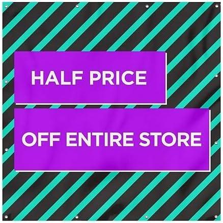 Modern Block Heavy-Duty Outdoor Vinyl Banner CGSignLab 6x6 Half Price Off Entire Store